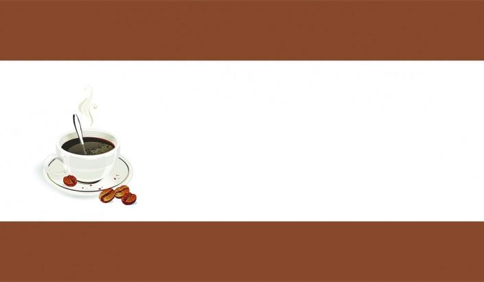 Чашка кофе фон визитки