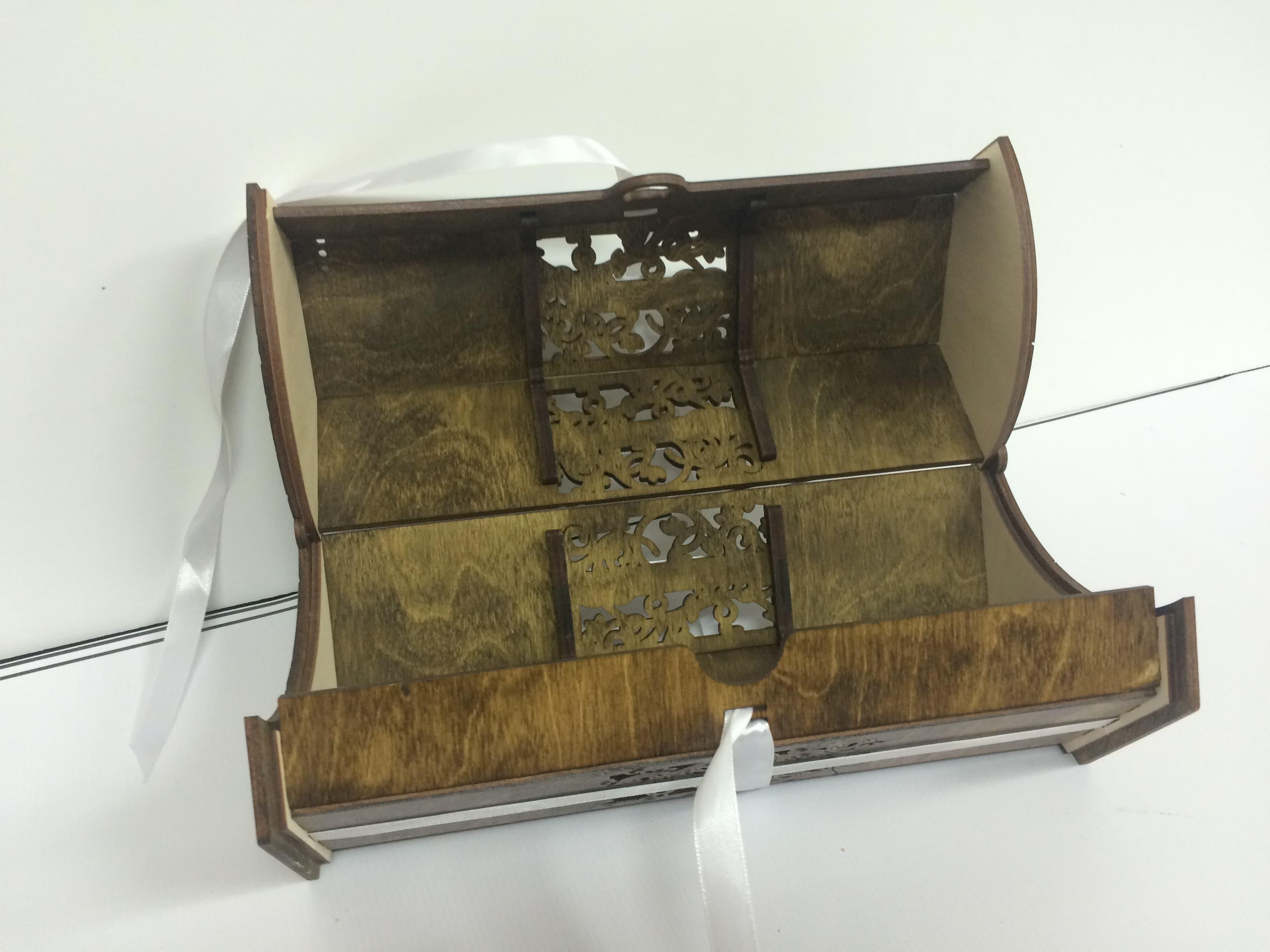 Упаковка из дерева лазерная резка