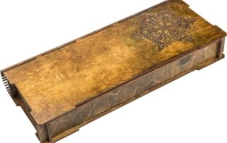 декорированная деревянная коробка