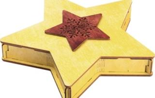 коробка из дерева в виде звезды