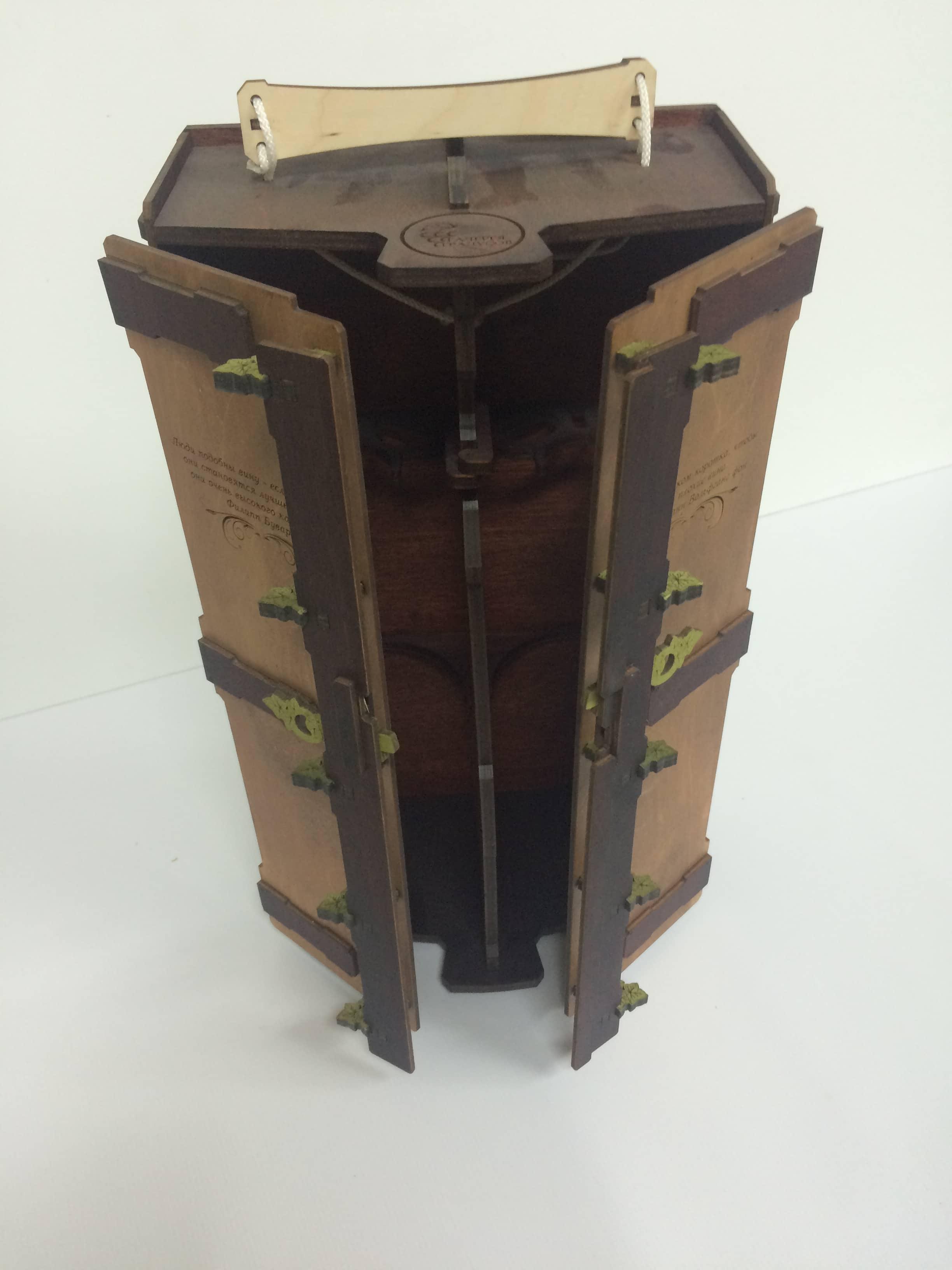 упаковка из дерева в открытом виде