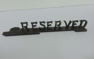 табличка зарезервировано лазерная резка