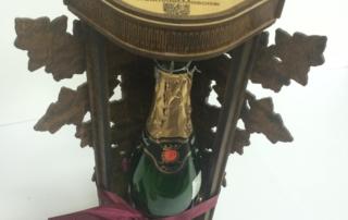 Деревянная упаковка для шампанского